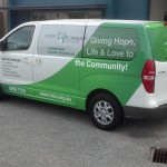 custom signwriting van wrap
