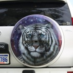 Prado wheelcover tiger