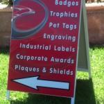 a frame signage