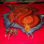 dragon on car