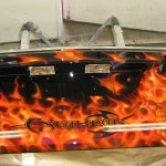 custom airbrush flames
