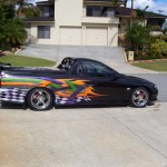 airbrushed vehicle signage