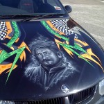 airbrush car bonnet