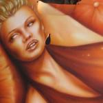 marilyn monroe arbrush art