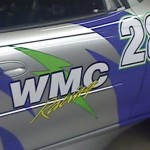 racing car signage
